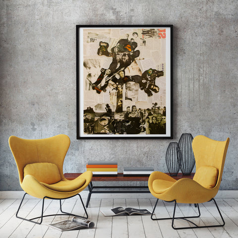 U2 Joshua Tree Collage Giclee Print - multymedia