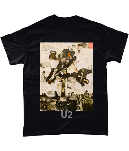 U2 Joshua Tree Collage Short-Sleeve T-Shirt - multymedia