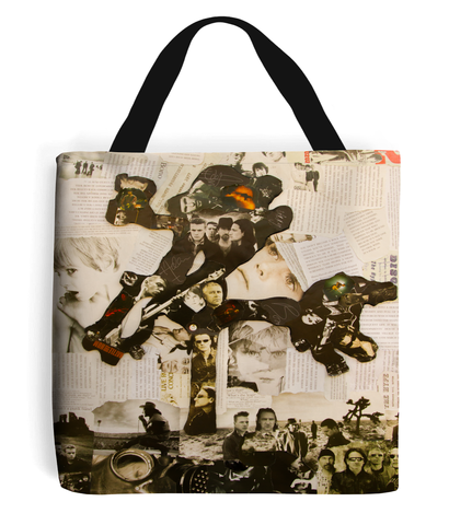 U2 Joshua Tree Collage Tote Bag - multymedia