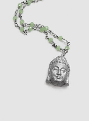 Buddha Head Pendant Necklace