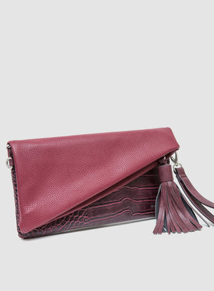 CATT CLUTCH CROC in Crimson