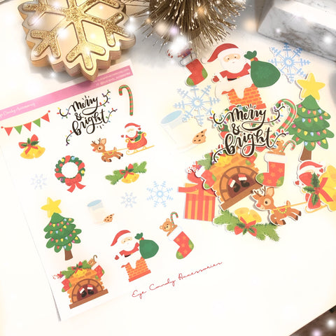 Merry & Bright Sticker Sheet & Die Cuts