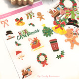 Merry Christmas Sticker Sheet & Die Cuts