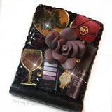 Burgundy Glam LED Compact Mirror