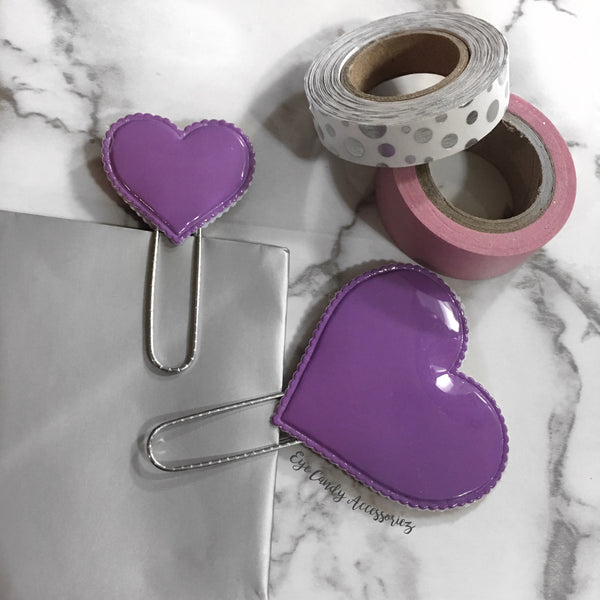 Plastic Hearts Paper Clips