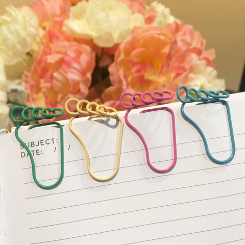 Cute Metal Foot Paper Clip