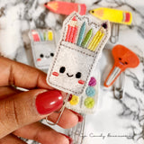 School Supplies Felt Planner Paper Clips