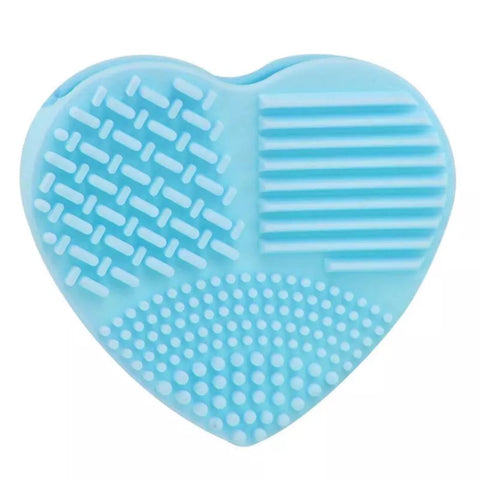 Silicone Heart Makeup Brush Cleaner Mitt