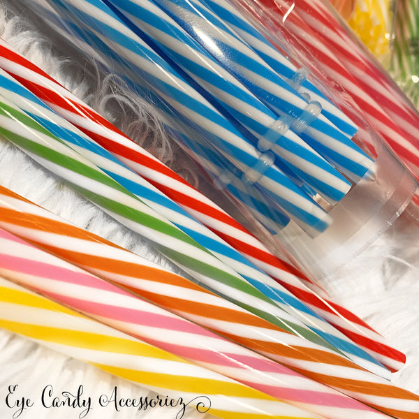 ADD-ON - Reusable Plastic Straw (Plain or Striped) For Venti Cold Cup