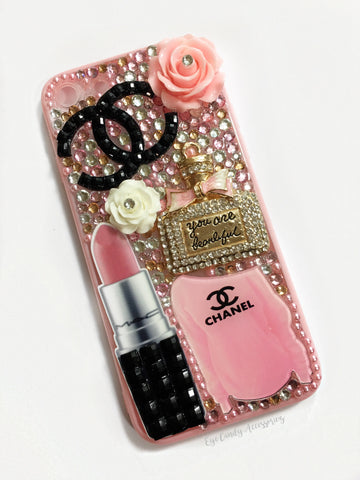 iPhone 7 Pink Glam Case- Rubber Sides