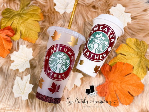 Fall Themed Starbucks Cup