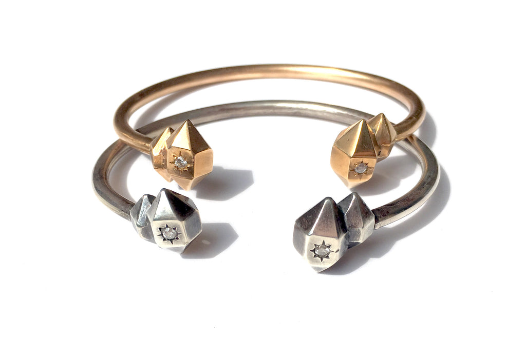 herkimer cuff with diamonds