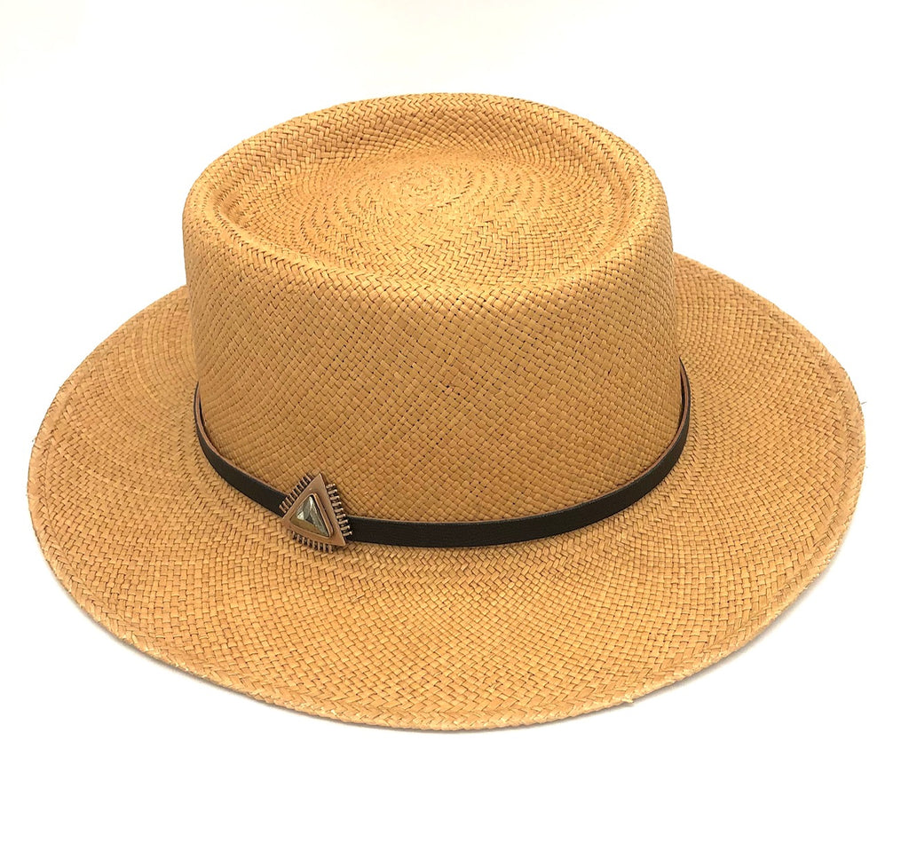 straw hat with A+A hat band