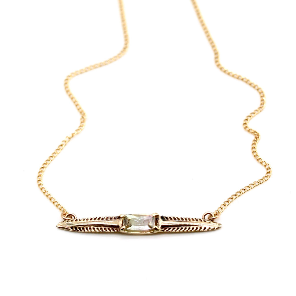 tourmaline barb necklace