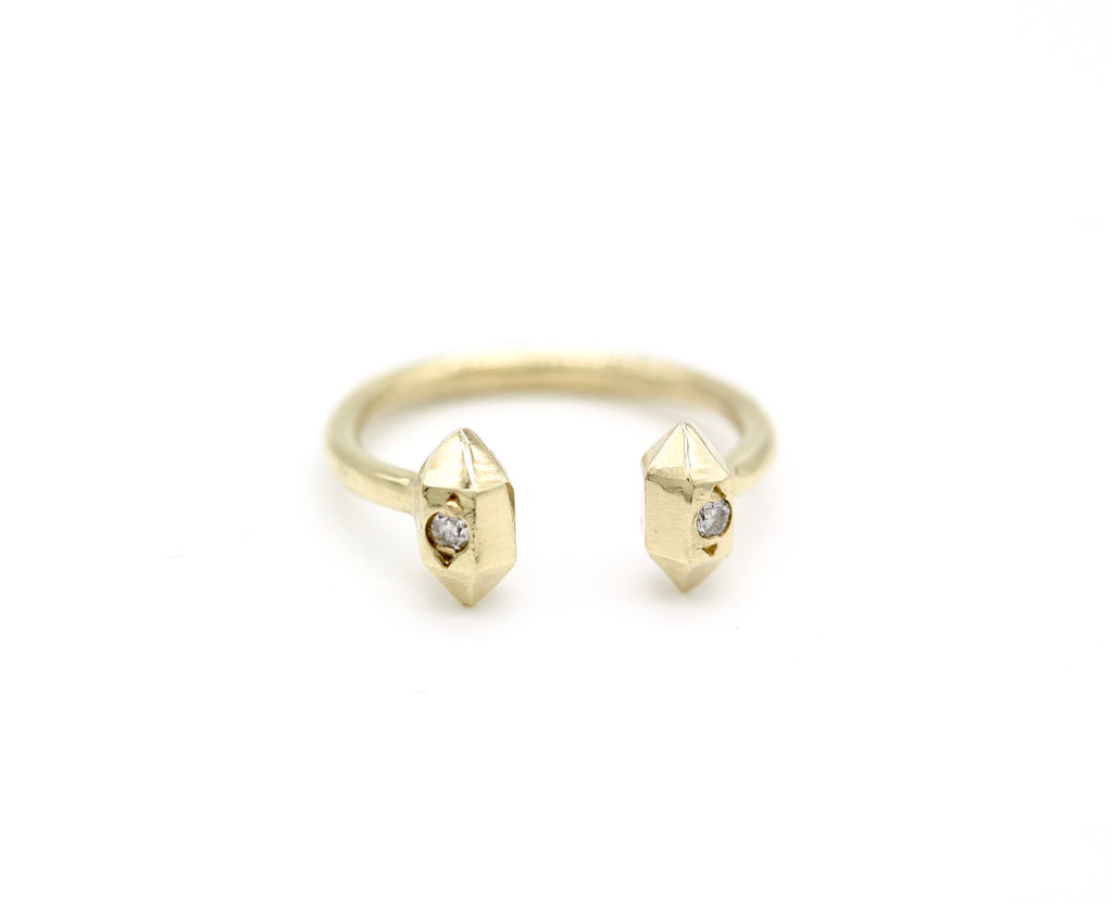 herkimer diamond open ring