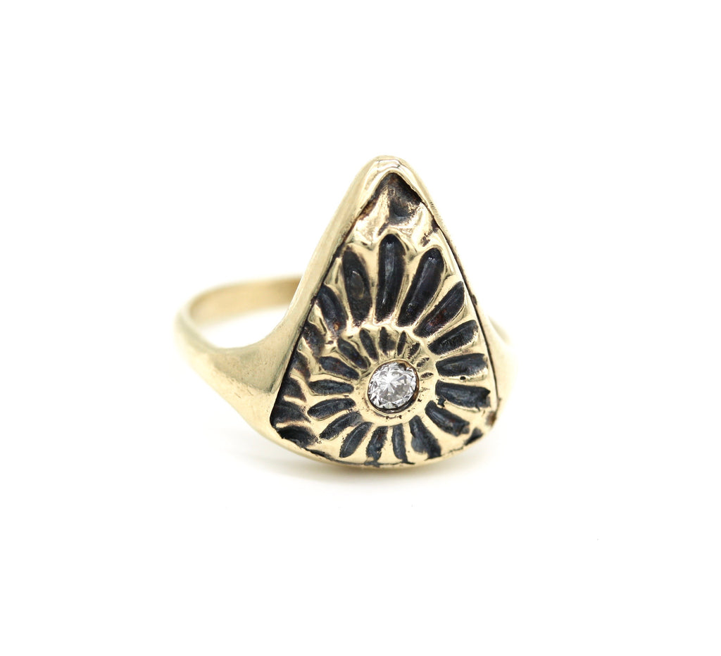 ammonite triangle ring
