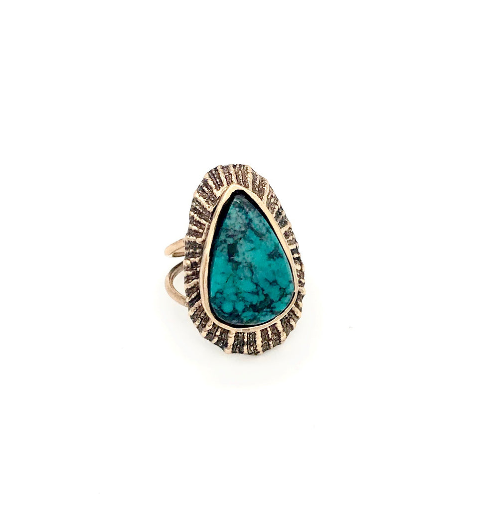 turquoise shell ring
