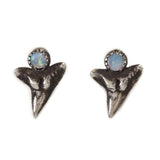 shark tooth studs with cabochon