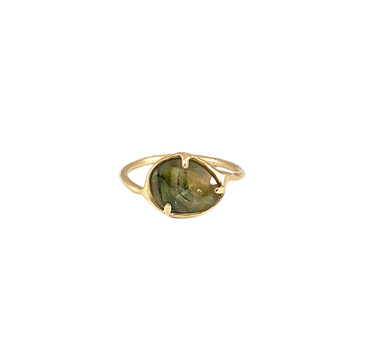 green tourmaline organic ring *SOLD