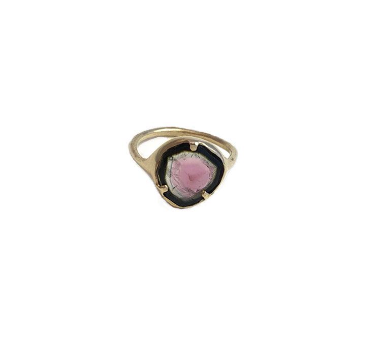 watermelon tourmaline ring  *SOLD