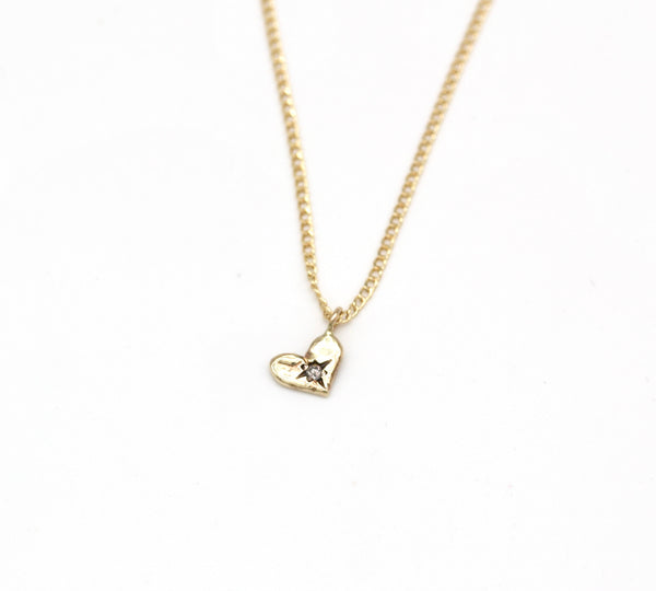 heart pendant with diamond