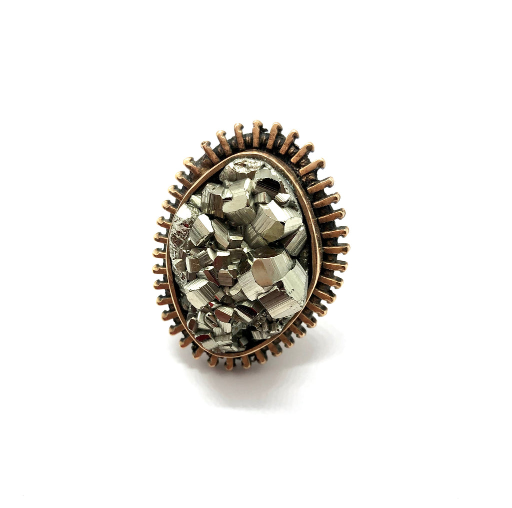 zipper pyrite ring