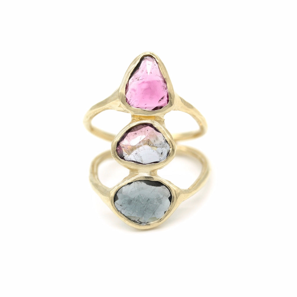 Stacked tourmaline ring