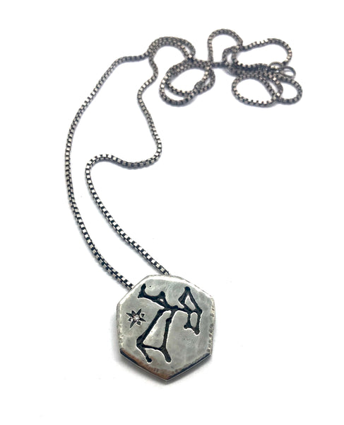 zodiac constellation pendant- for him