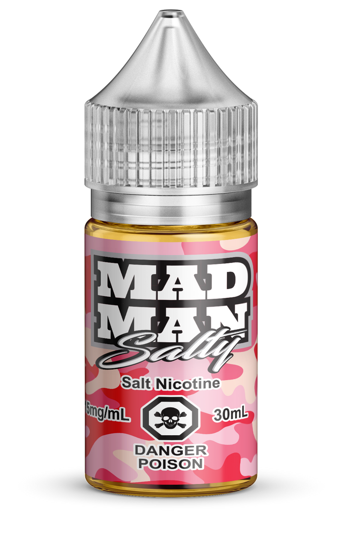 MAD MAN- CRAZY STRAWBERRY SALTS 30ML