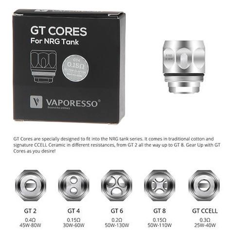 VAPORESSO GT COILS FOR NRG TANK/BABY BEAST