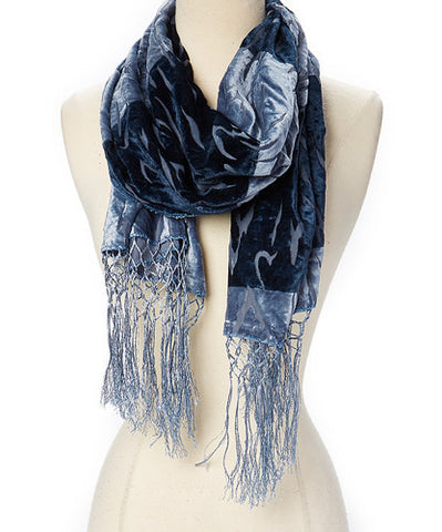 Velvet Burnout Scarves