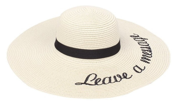 Amtal Women Leave a Message Beige Floppy Hat