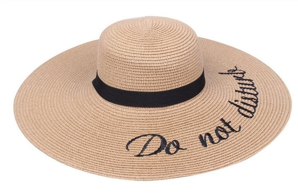 Amtal Women Do Not Disturb Khaki Floppy Hat
