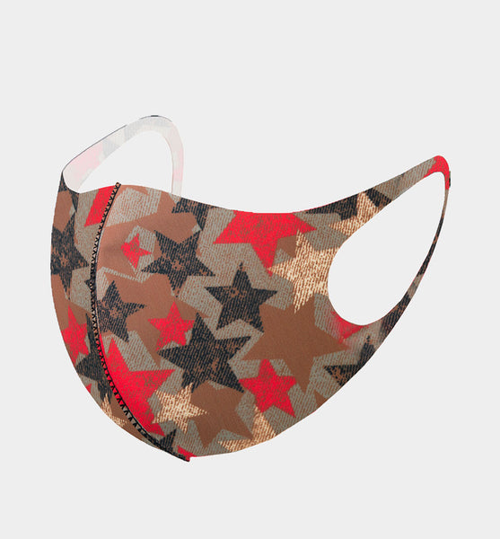 Fashion Multicolor Stars Pattern Print Mask