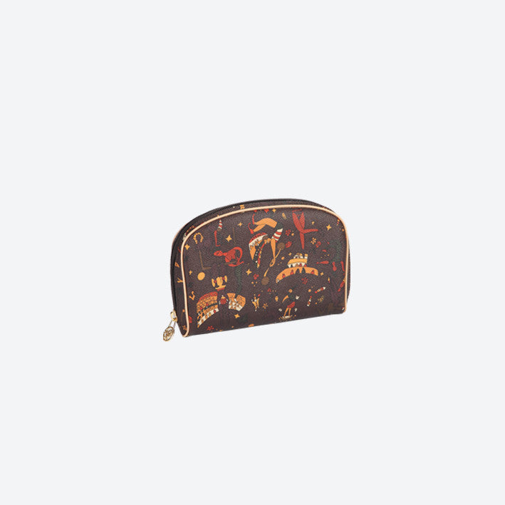 Piero Guidi Magic Circus - 7 x 5 x 1.5 in. Brown Small Cosmetic Case