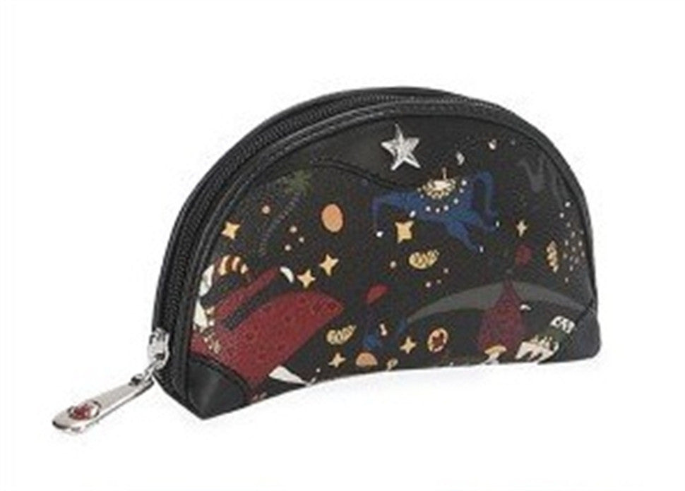 Piero Guidi Magic Circus- 6.5 x 4.5 in. Black Cosmetic Case
