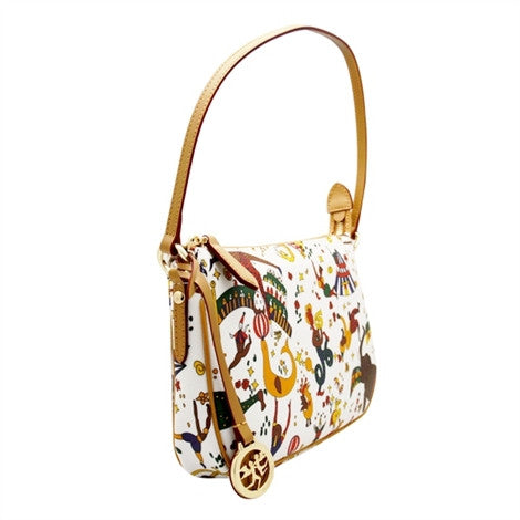 Piero Guidi Magic Circus - 10 x 6 in. Black, Brown or White Shoulder Bag
