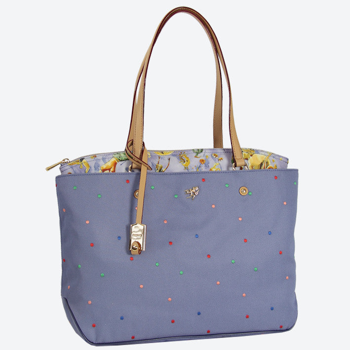 Piero Guidi Magic Circus -  13 x 10 x 4 in. Cherie Pois Tote