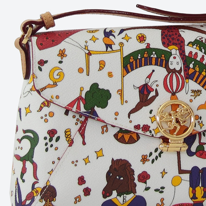 Piero Guidi Magic Circus - 9 x 6 x 2 in. White or Black Small Sling Bag