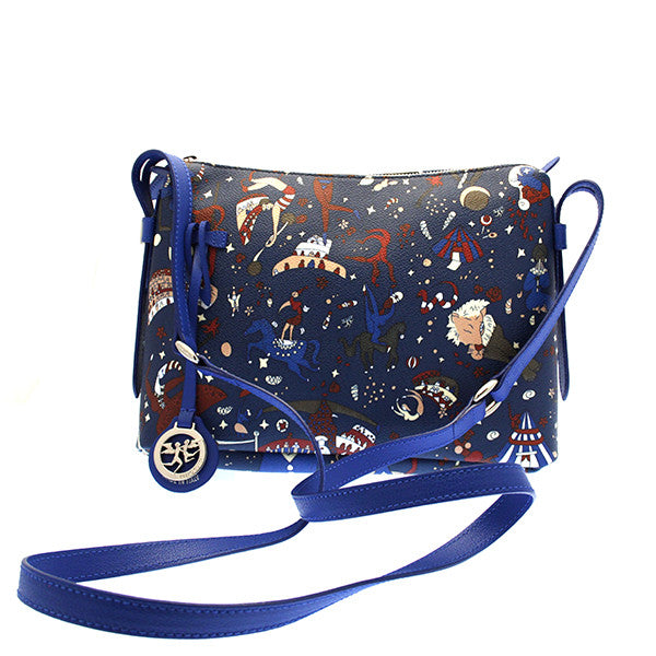 Piero Guidi Magic Circus - Blue Crossbody Bag 11 x 8 x 3