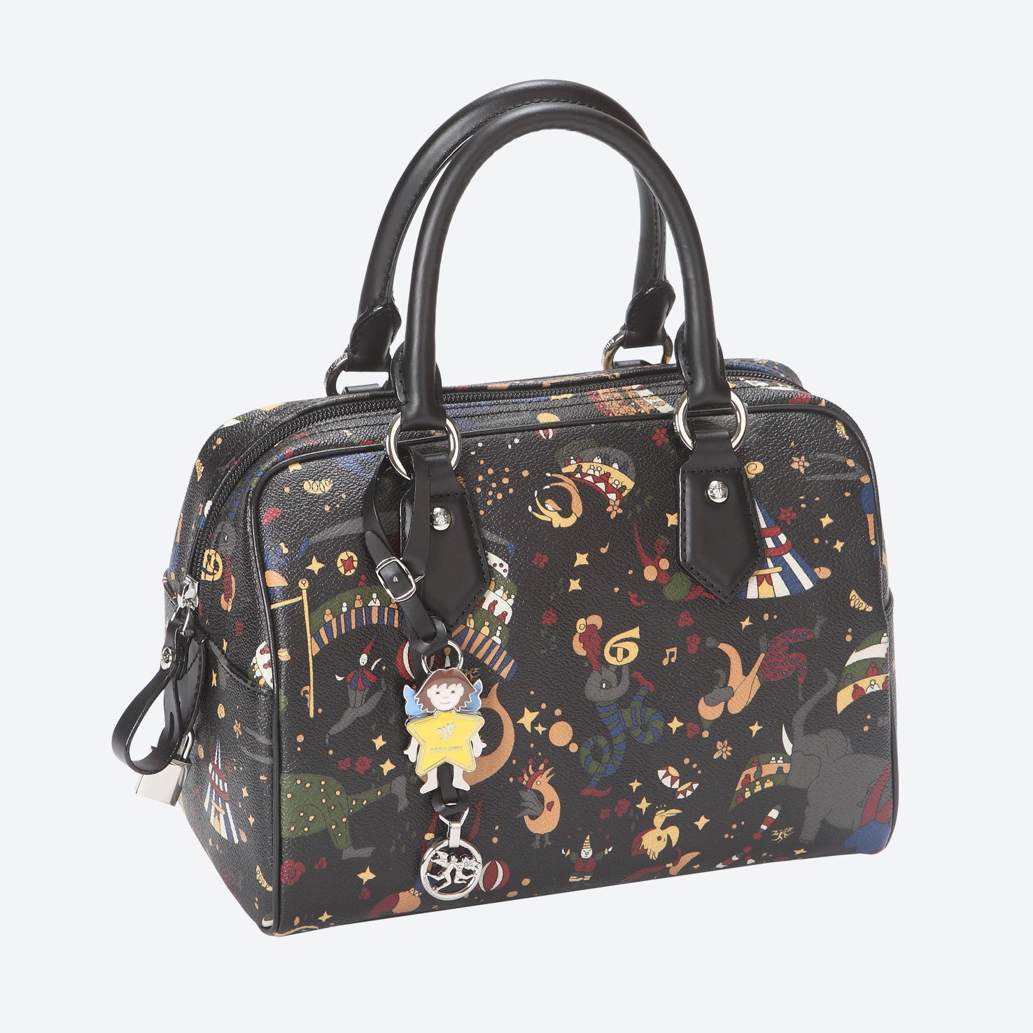 Piero Guidi Magic Circus - 9.5 x 6 x 5 in. Black or Brown Satchel