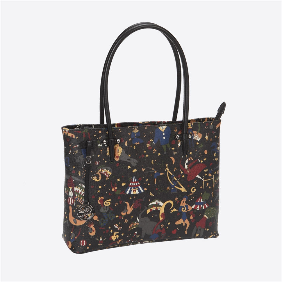 Piero Guidi Magic Circus- 10.5 x 16 in. Black or Brown Tote