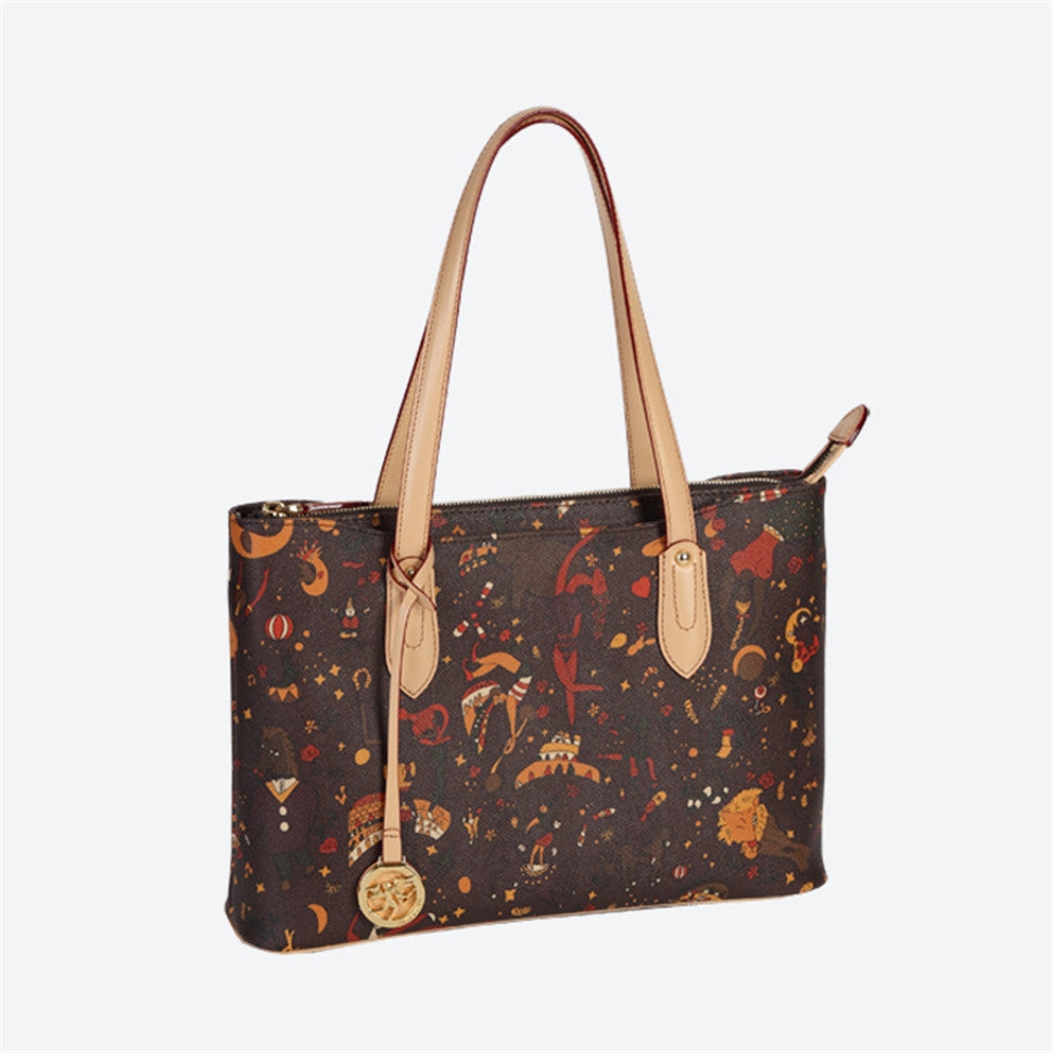 Piero Guidi Magic Circus - 15 x 10 in. Brown or Black Tote