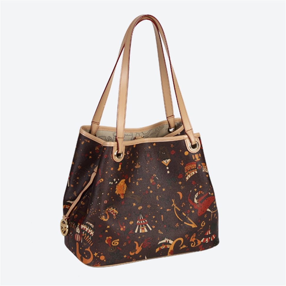 Piero Guidi Magic Circus- Brown, Black or White Small Tote