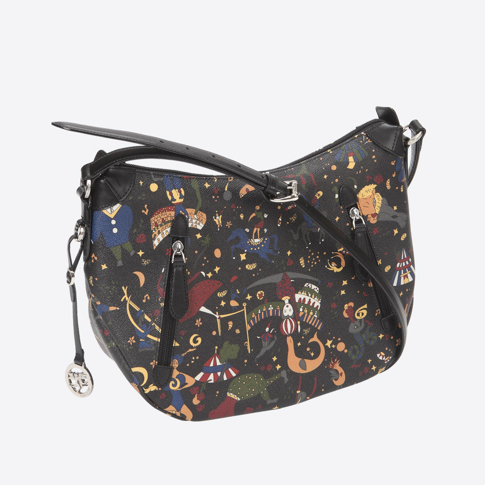 Piero Guidi Magic Circus - 11.5 x 9.5 x 5 in. Black Messenger Bag