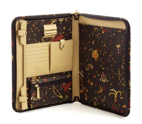 Piero Guidi Magic Circus - 13.5 x 10.5 in. Brown Zipper Notebook