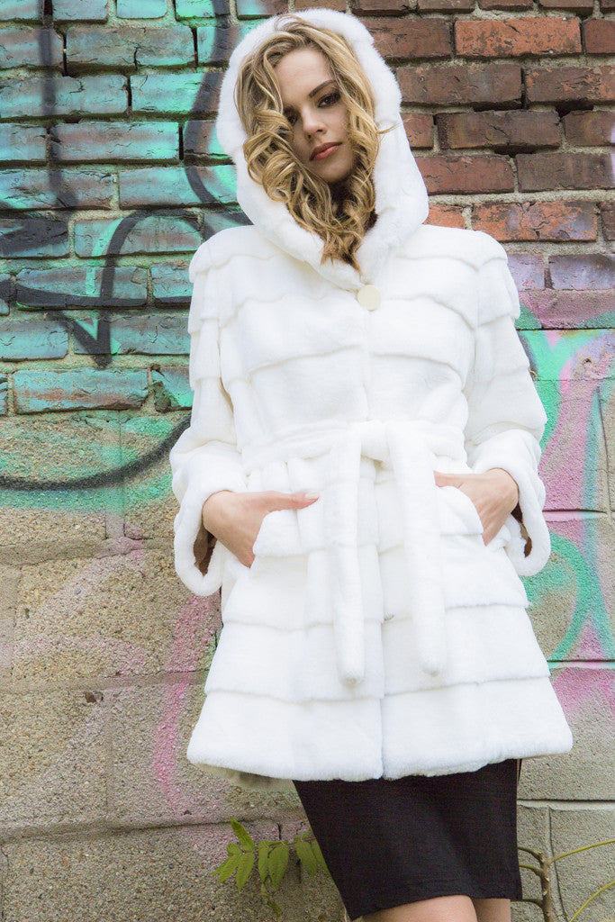 White Rex Rabbit Hooded Jacket