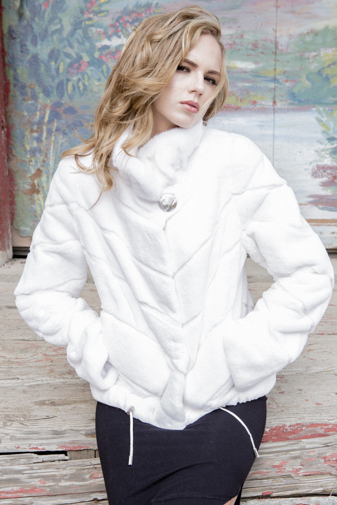 White Rex Rabbit Jacket