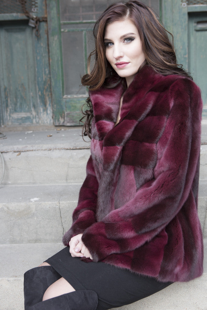Vino Dyed Mink Jacket
