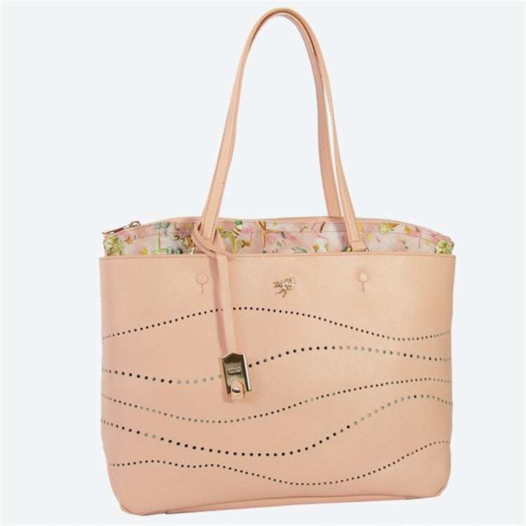 Piero Guidi Cherie Leather - 13 x 10 x 4 in. Sunlight Pink Tote Bag